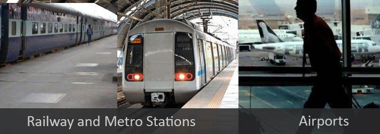 railway and Metro Stations & Airports