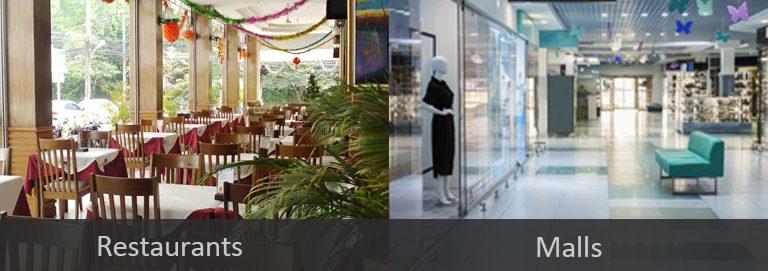 Restaurants and Malls Premise